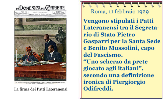 Evento del giorno, Patti Lateranensi copia